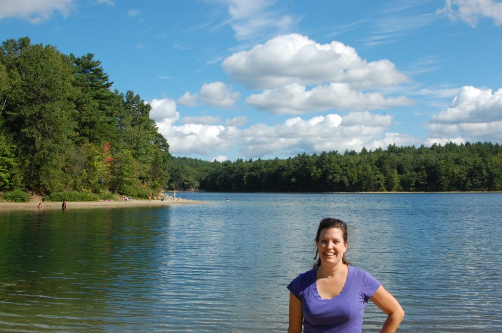 Posing at Walden Pond