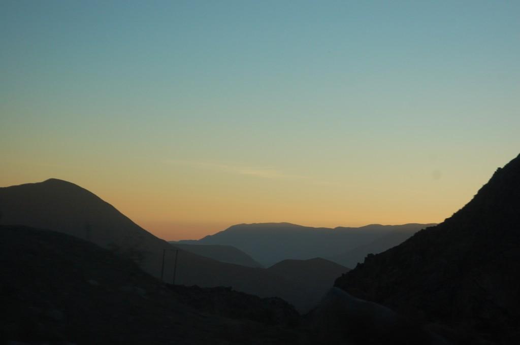 Sunset Leaving Parque Nacional Lauca