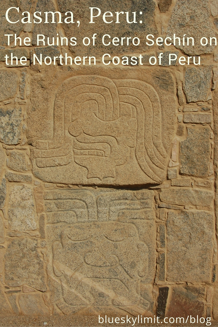 Casma, Peru- The Ruins of Cerro Sechín on the Northern Coast of Peru